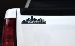 Blue Dallas Skyline Sticker