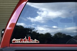 Red San Francisco Skyline Sticker