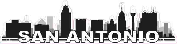 San Antonio Skyline Sticker