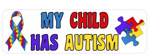 Ribbon My Child Has Autism Magnet