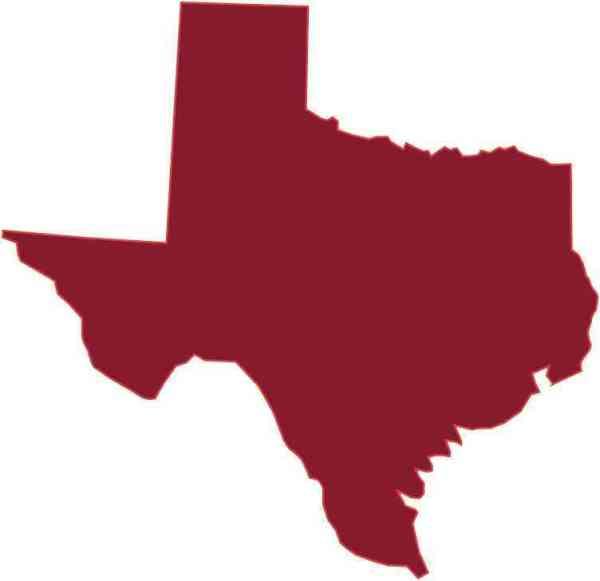 Die Cut Maroon Texas Sticker