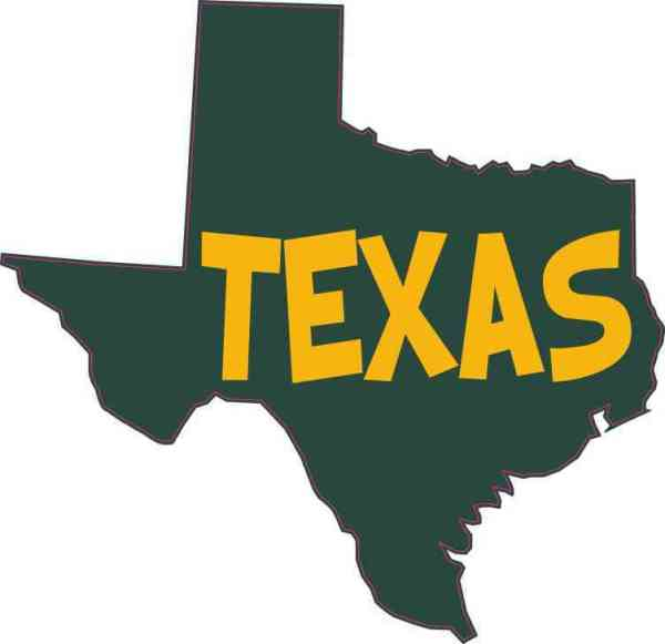 Green and Gold Texas Sticker