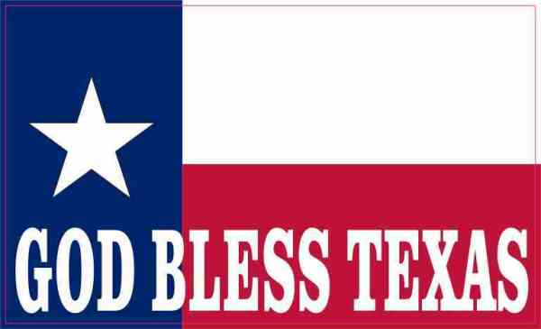 State Flag God Bless Texas Magnet