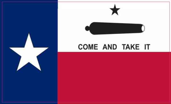 Come and Take It Texas Flag Sticker