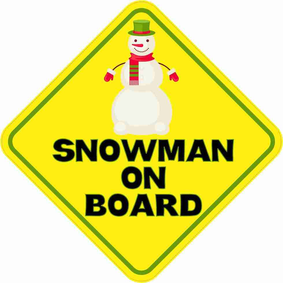 Snowman on Board Sticker