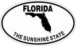 Oval Florida The Sunshine State Sticker