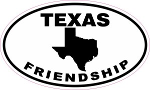 Oval Texas Friendship Sticker