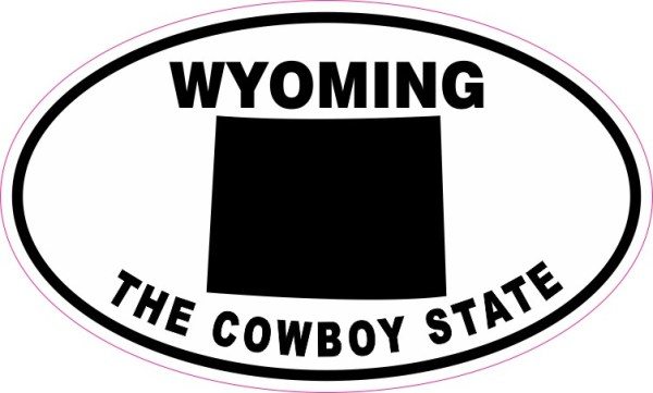 Oval Wyoming The Cowboy State Sticker