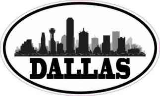 Oval Dallas Skyline Sticker