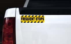 Caution Frequent Stops Magnet