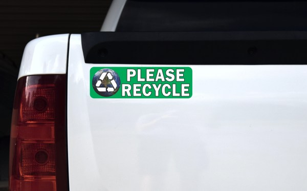 Earth Please Recycle Sticker