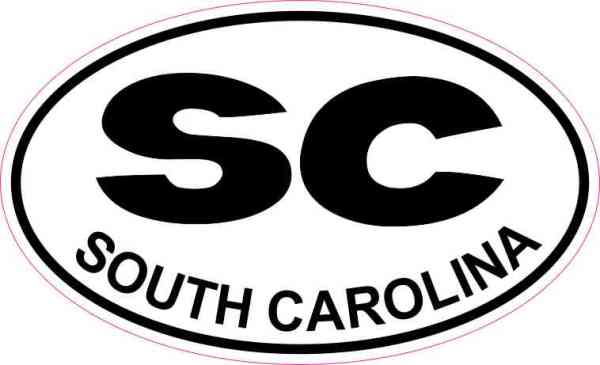 Oval SC South Carolina Sticker