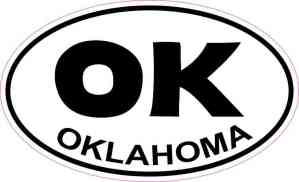 Oval Oklahoma Sticker