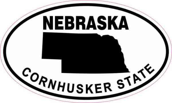 Oval Nebraska Cornhusker State Sticker