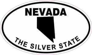 Oval Nevada The Silver State Sticker
