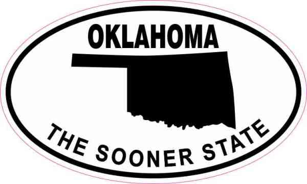 Oval Oklahoma The Sooner State Sticker
