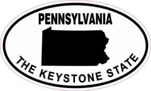 Oval Pennsylvania The Keystone State Sticker