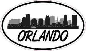 Oval Orlando Skyline Sticker