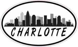 Oval Charlotte Skyline Sticker