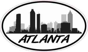 Oval Atlanta Skyline Sticker