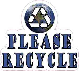 Please Recycle Sticker
