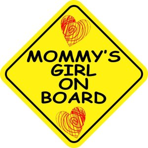 Mommy's Girl on Board Magnet