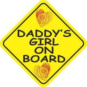 Daddy's Girl on Board Magnet