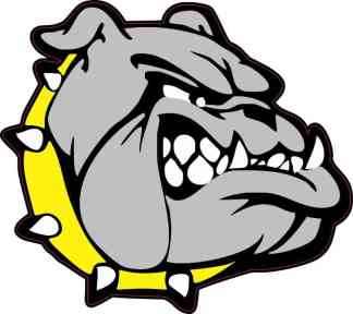 Yellow Collared Bulldog Sticker