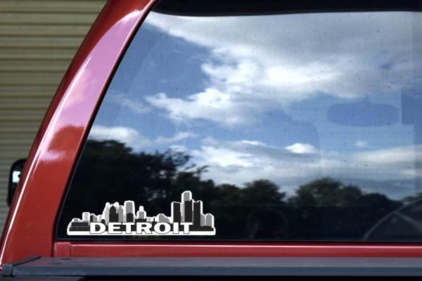 Detroit Skyline Sticker