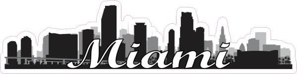 Script Miami Skyline Sticker