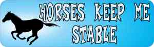 Horses Keep Me Stable Magnet