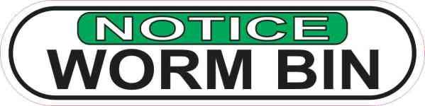 Notice Worm Bin Sticker