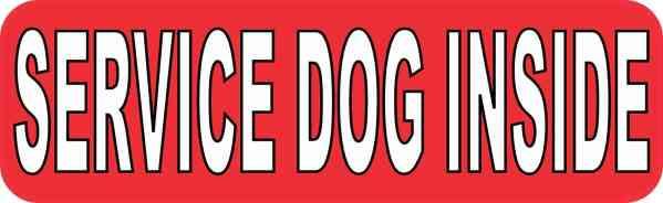 Service Dog Inside Magnet
