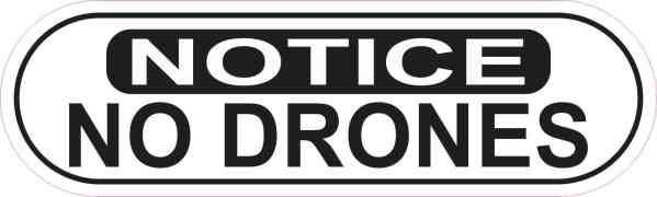 Oblong Notice No Drones Sticker