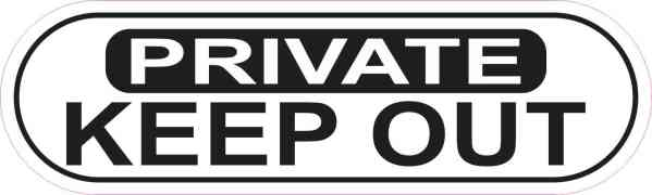 Oblong Private Keep Out Sticker