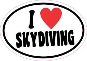 I Love Skydiving Sticker