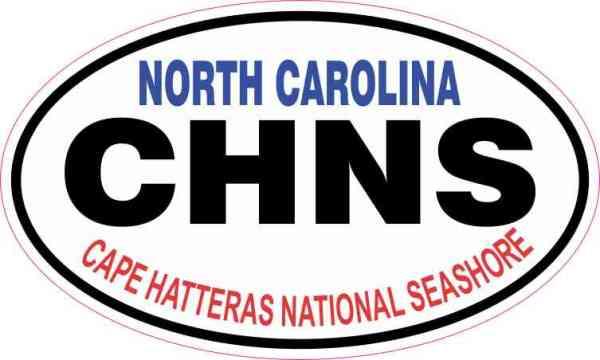 Oval Cape Hatteras National Seashore Sticker