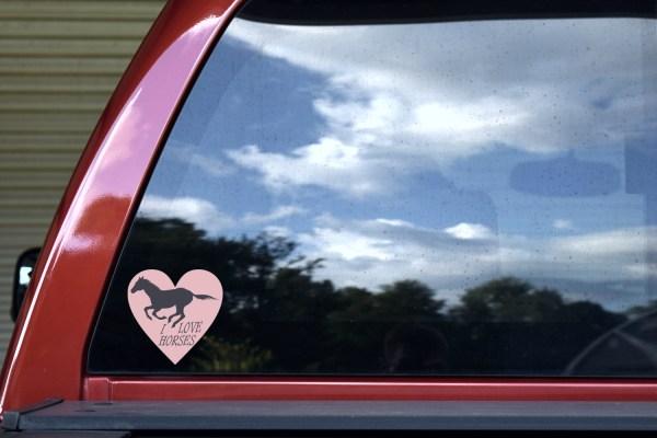 Heart I Love Horses Sticker