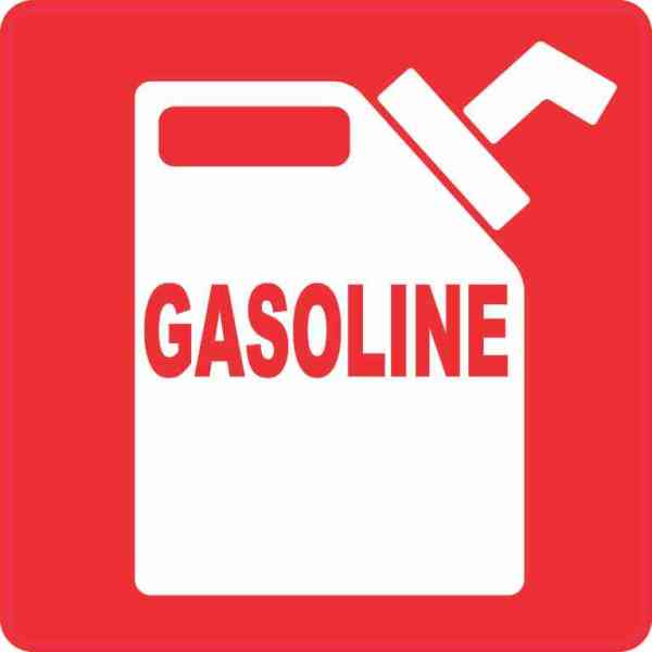 Red Gasoline Sticker
