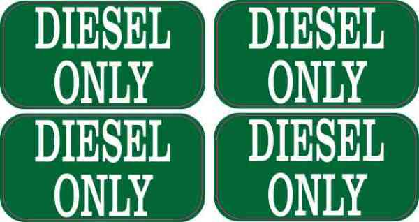Diesel Only Stickers