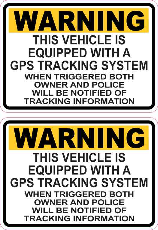 Yellow GPS Tracking Stickers