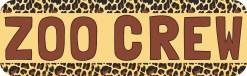 Zoo Crew Bumper Sticker