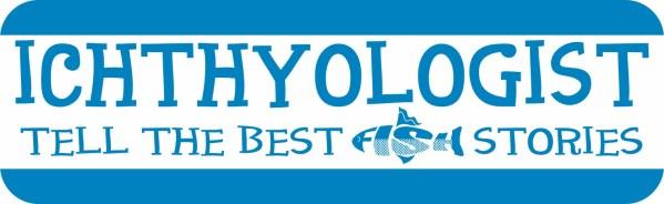 Blue Ichthyologist Bumper Sticker