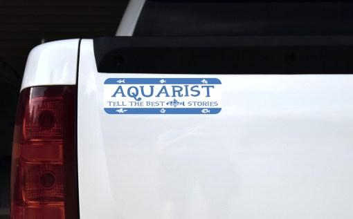 Aquarist Tell the Best Fish Stories Magnet