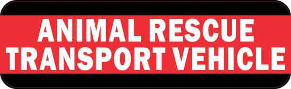 Animal Rescue Transport Vehicle Bumper Sticker