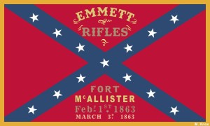 Emmett Rifles Flag Magnet