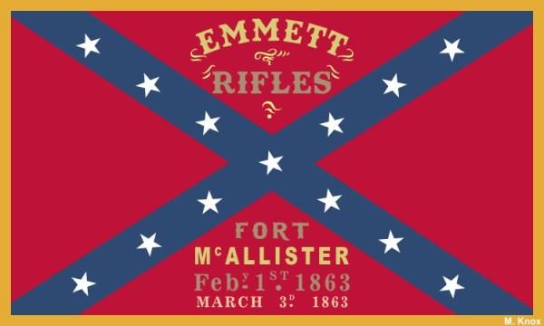Emmett Rifles Flag Magnet