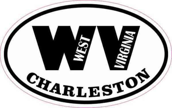 Oval WV Charleston West Virginia Sticker