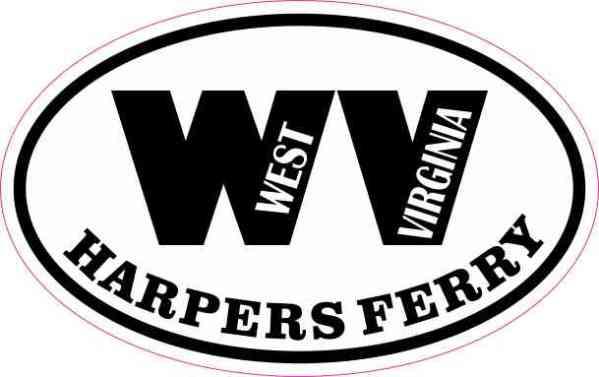 Oval WV Harpers Ferry West Virginia Sticker