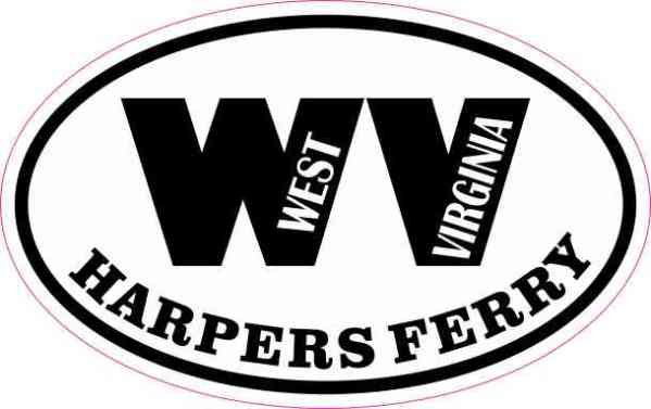 Oval WV Harpers Ferry West Virginia Sticker
